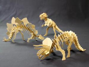 『恐竜-骨格クラフト』