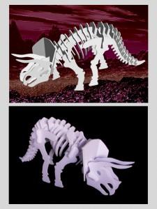 恐竜-骨格クラフト